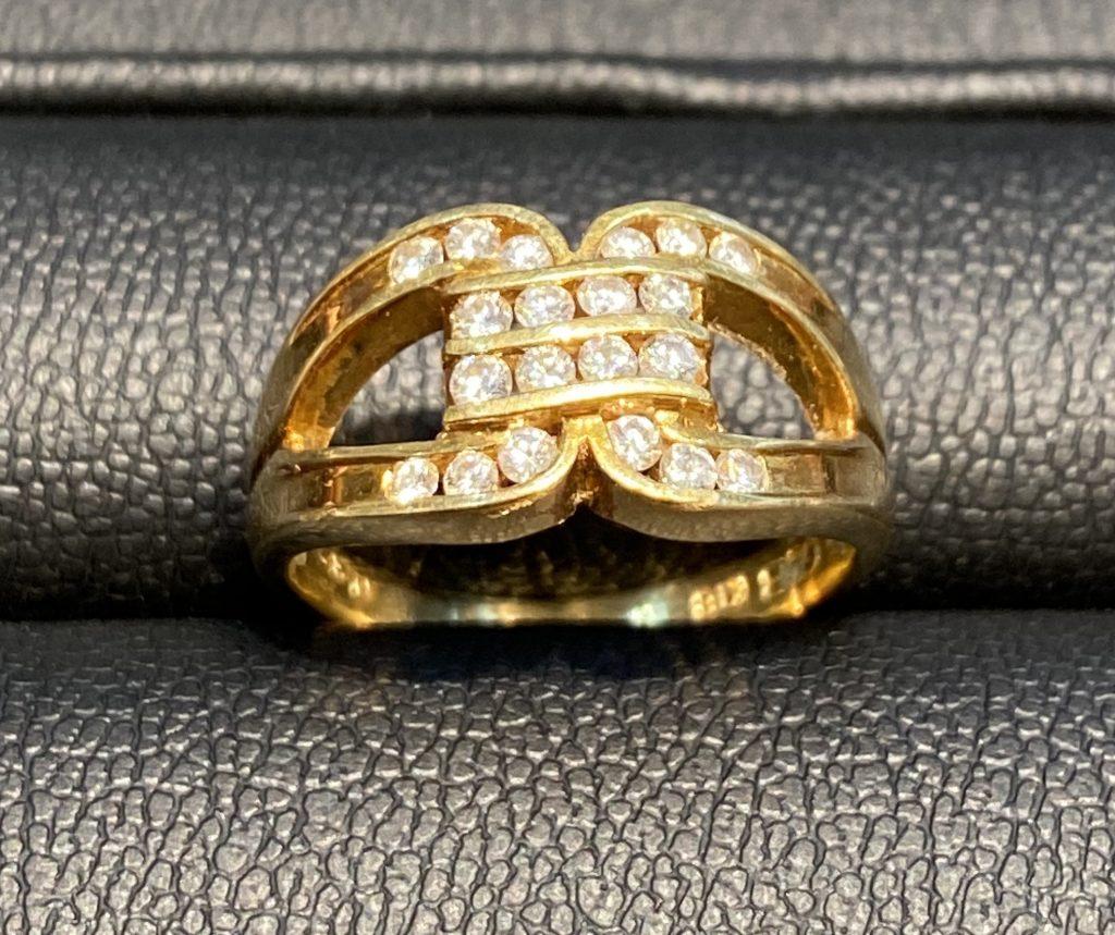 K18メレダイヤモンド付きリング
