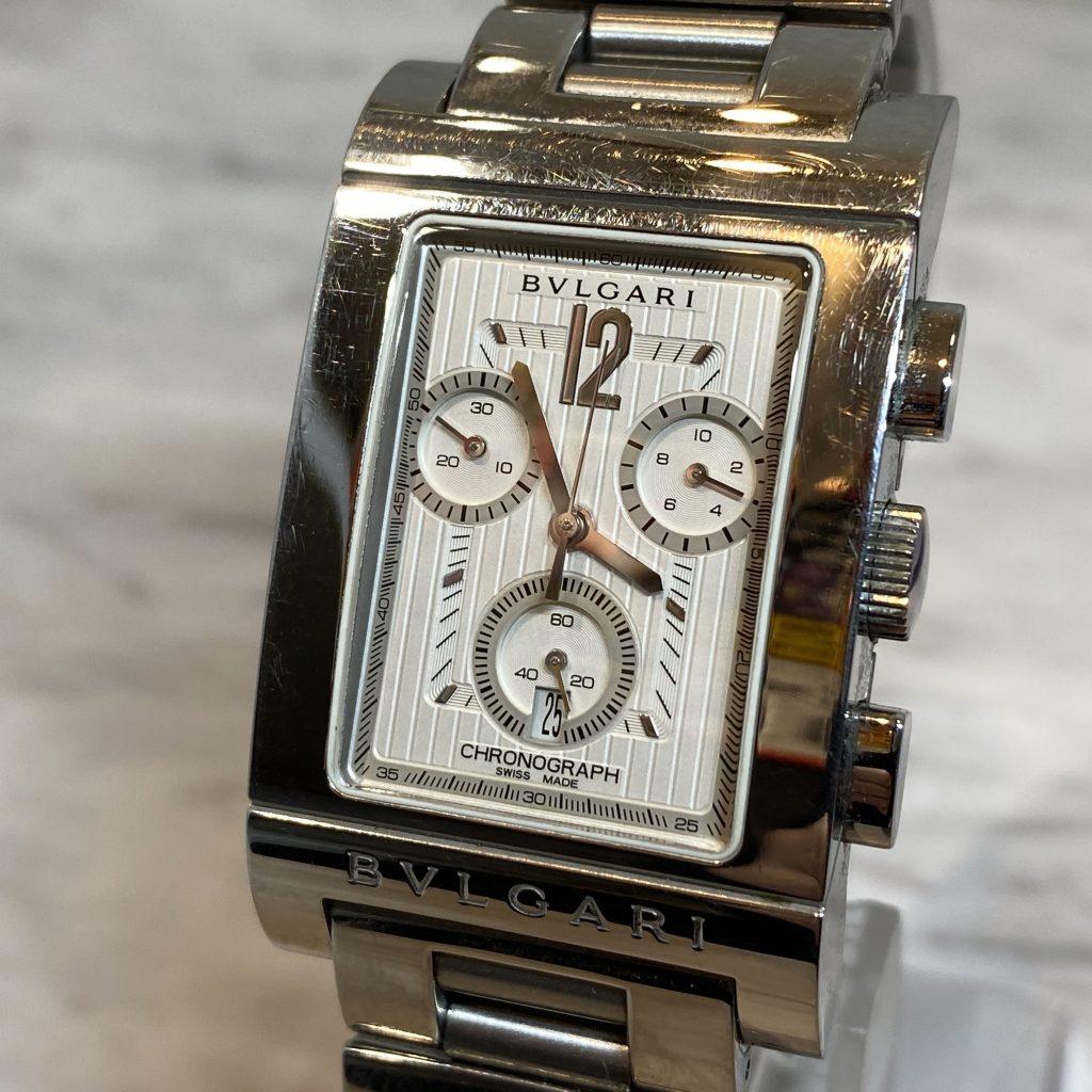 BVLGARI 腕時計 レッタンロゴ RTC49S メンズ