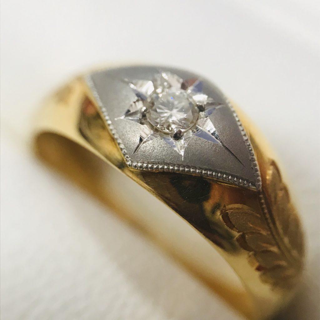 ダイヤモンドリング 0.09ct コンビ