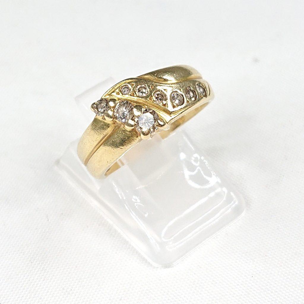 K18 ダイヤモンド(0.36ct)付リング