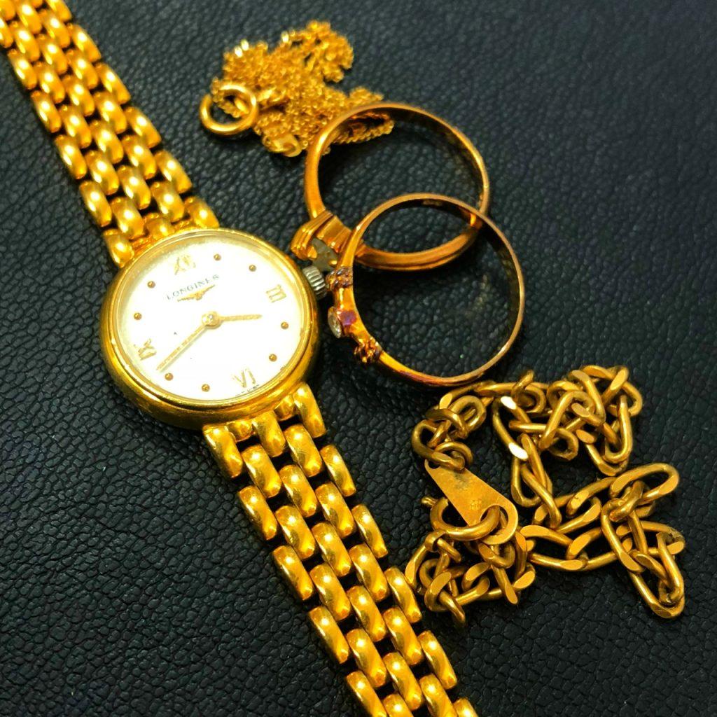 金アクセサリー 時計 リング ネックレス