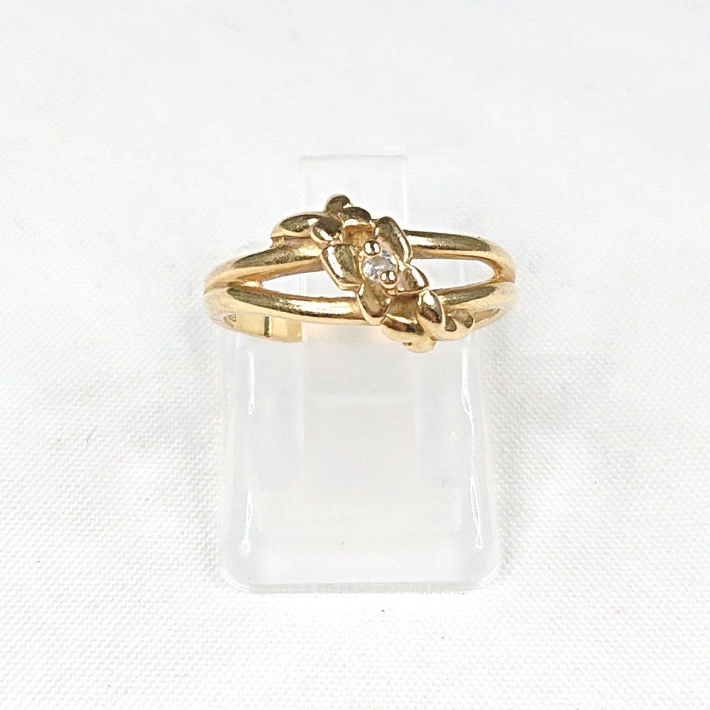 K18 ダイヤモンド(0.017ct)付リング