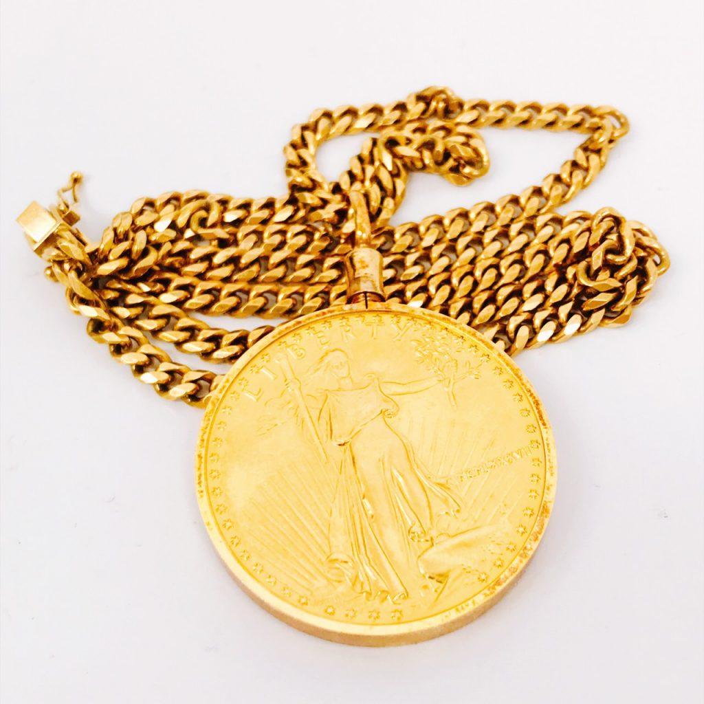 K22コイン付き ネックレス