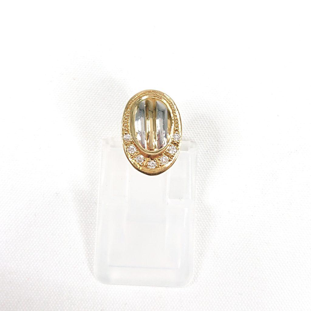 K18/Pt900 ダイヤモンド(0.07ct)付ネックレストップ