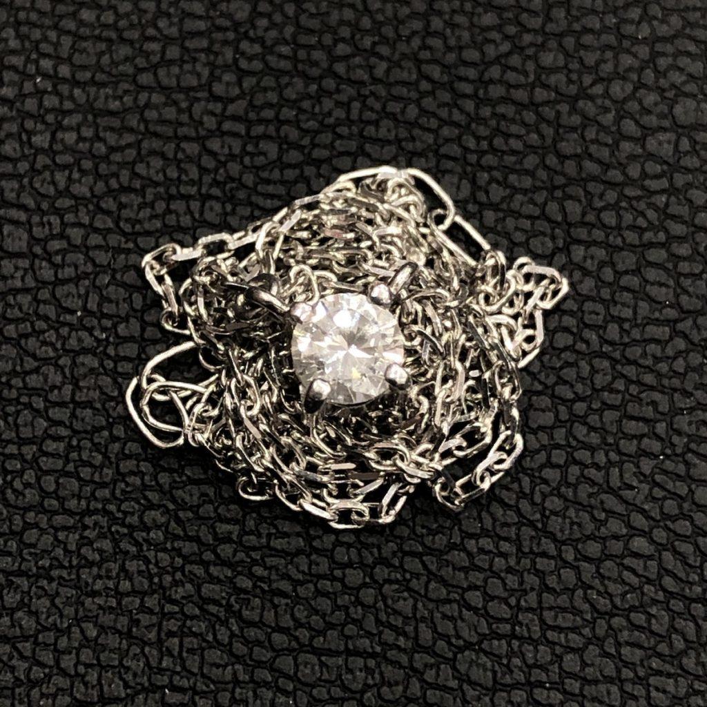 Pt900ネックレス ダイヤ