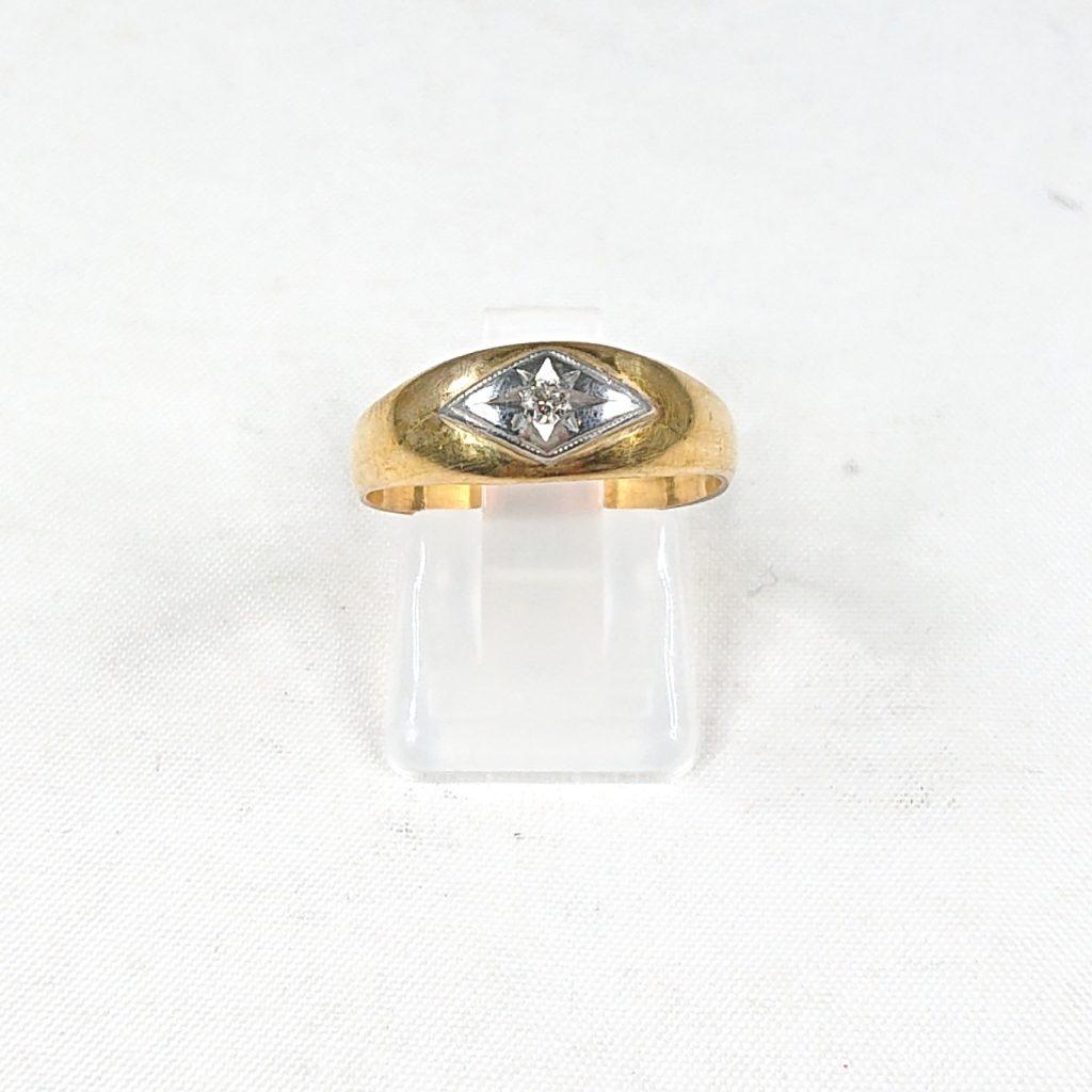 K18 メレダイヤ(0.05ct)付きリング