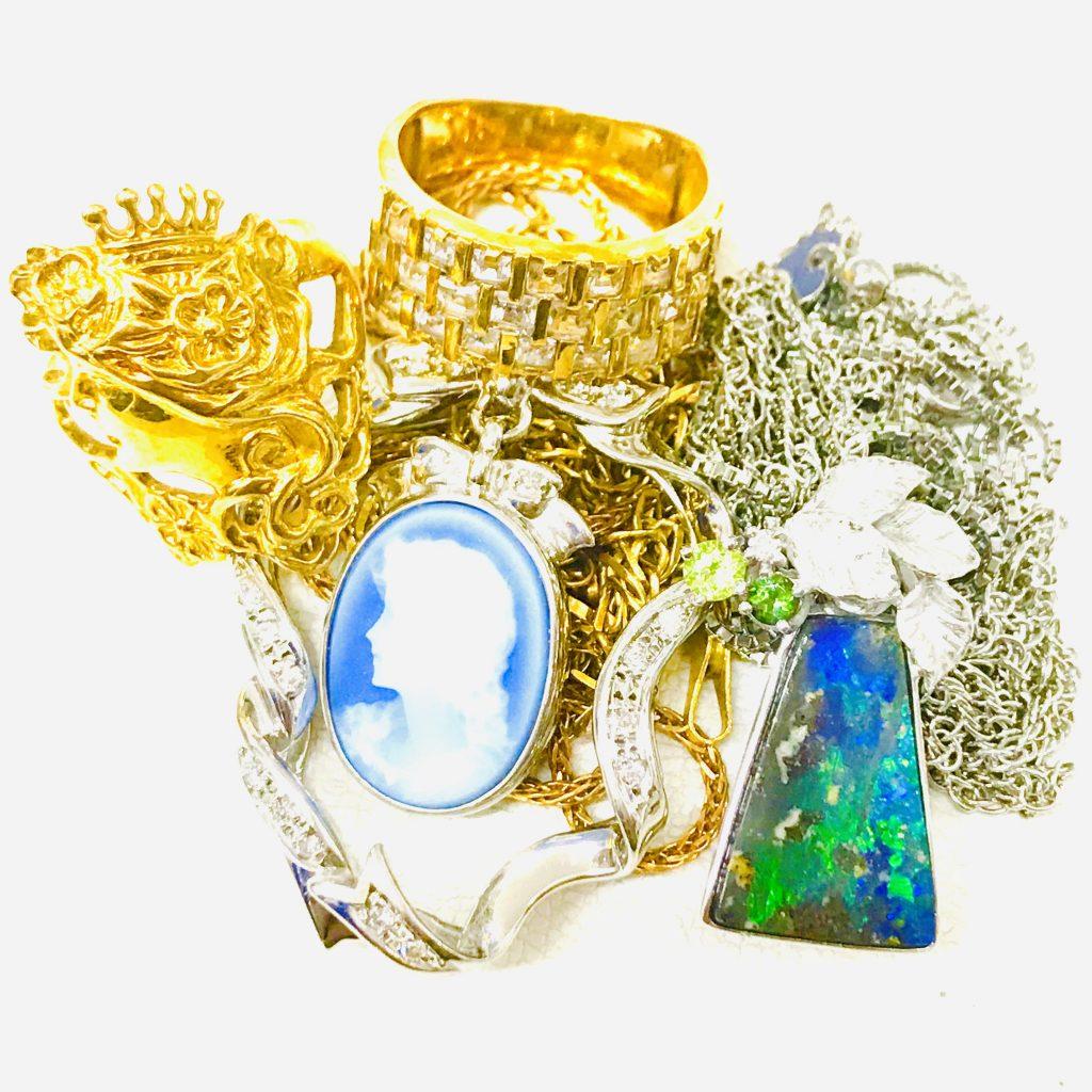K18 Pt850 Pt900 オパール ペリドット トルマリン メレダイヤモンド各種宝石 ジュエリーアクセサリー