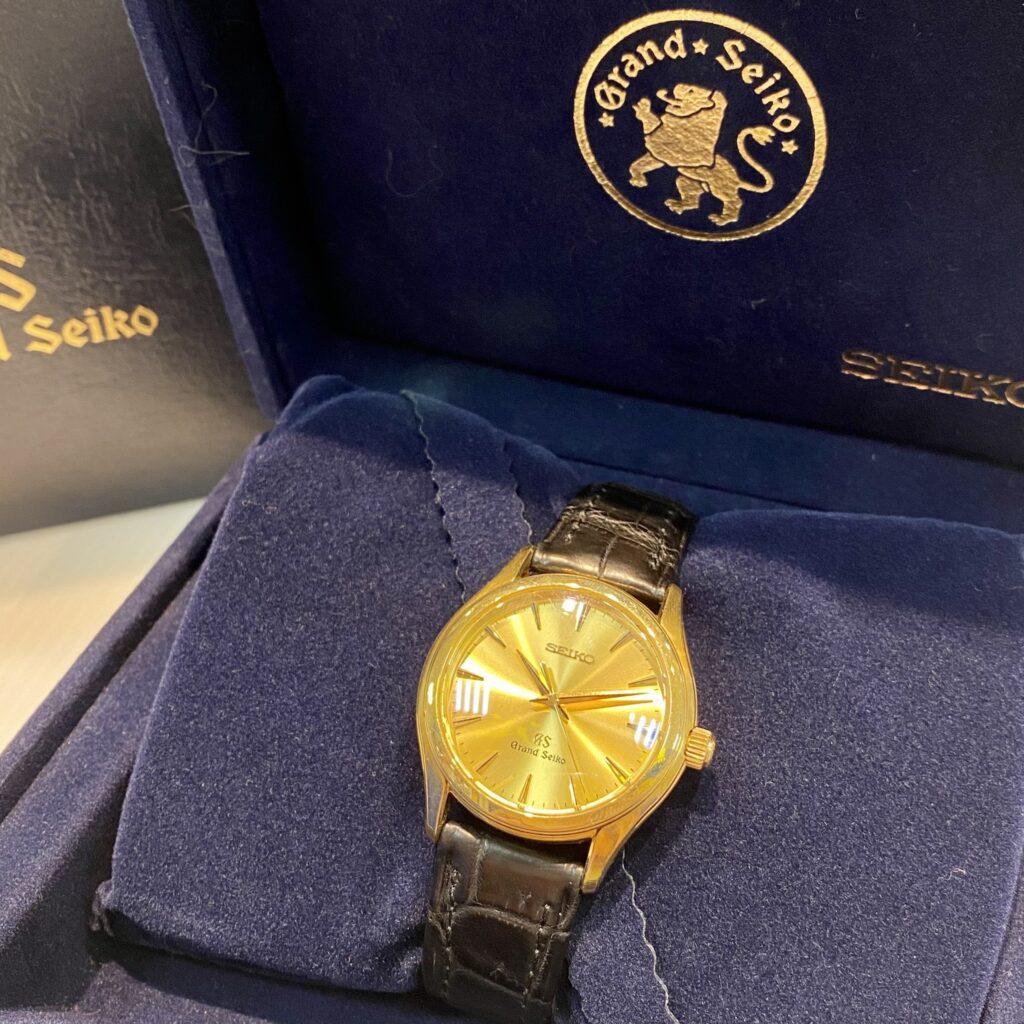 グランドセイコー K18YG レザー クォーツ 腕時計