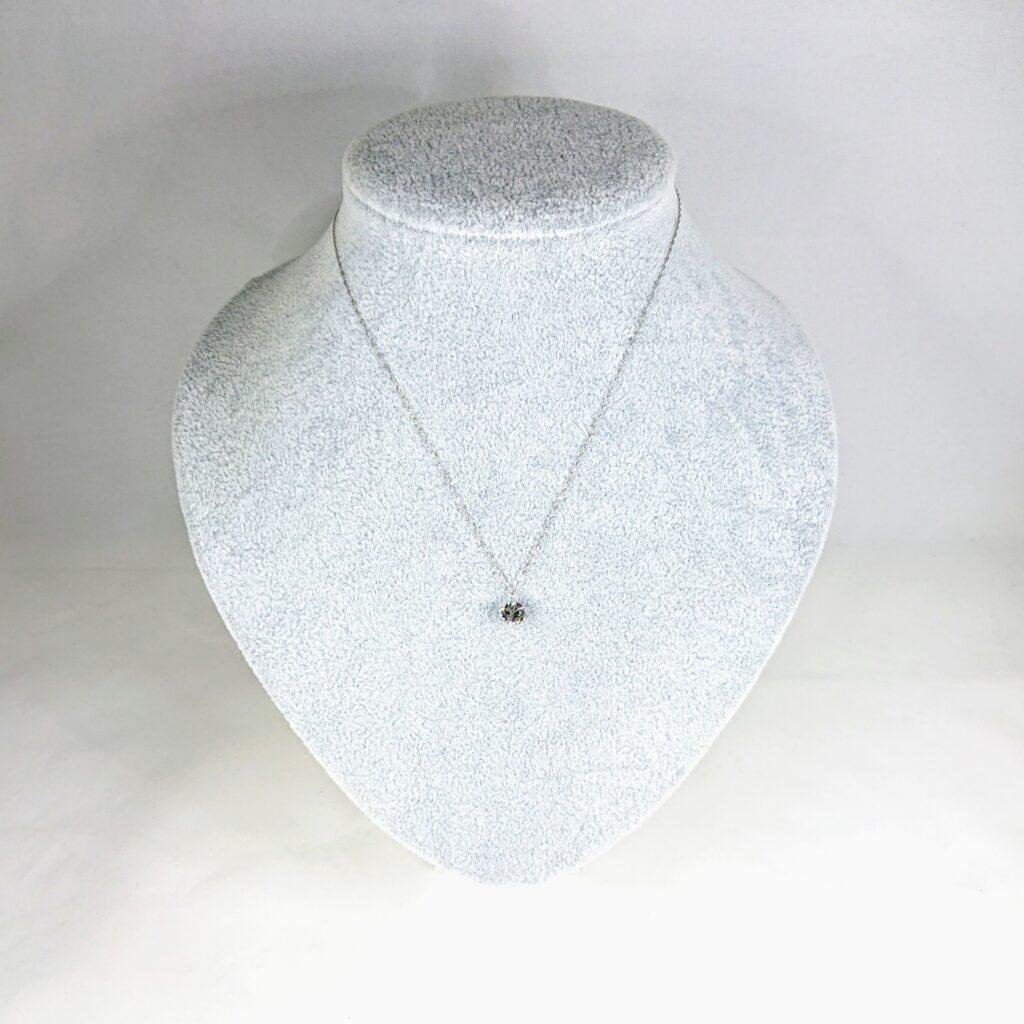Pt850 ダイヤモンド(1.25ct)付ネックレス