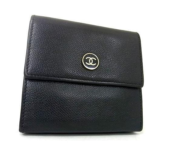 CHANEL シャネル ココマーク 三つ折り財布