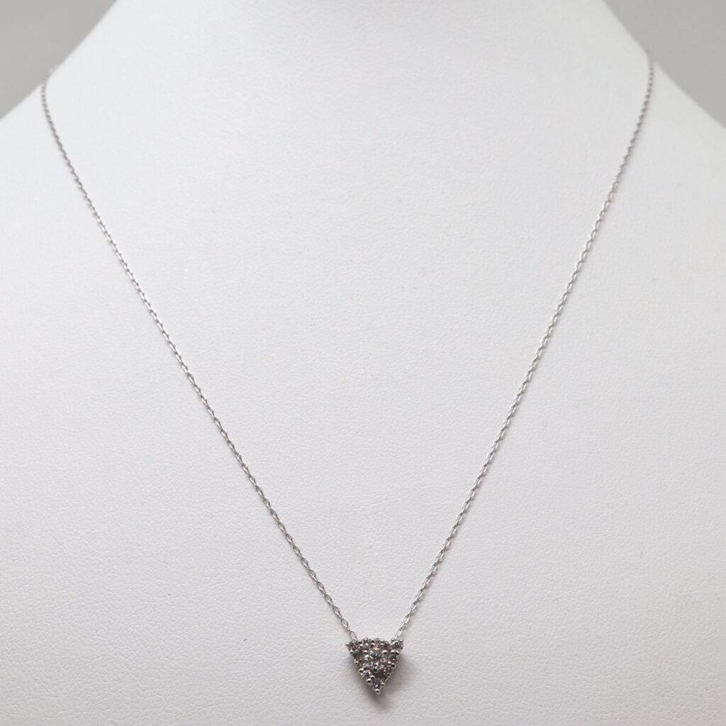 pt900 天然ダイヤモンドネックレス 0.10ct/0.14ct