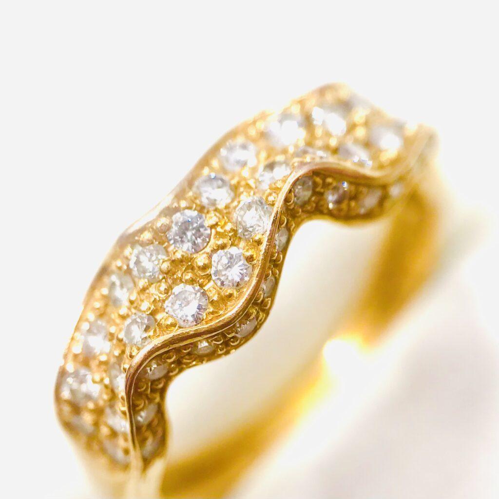 K18 メレダイヤモンドリング ジュエリーアクセサリー