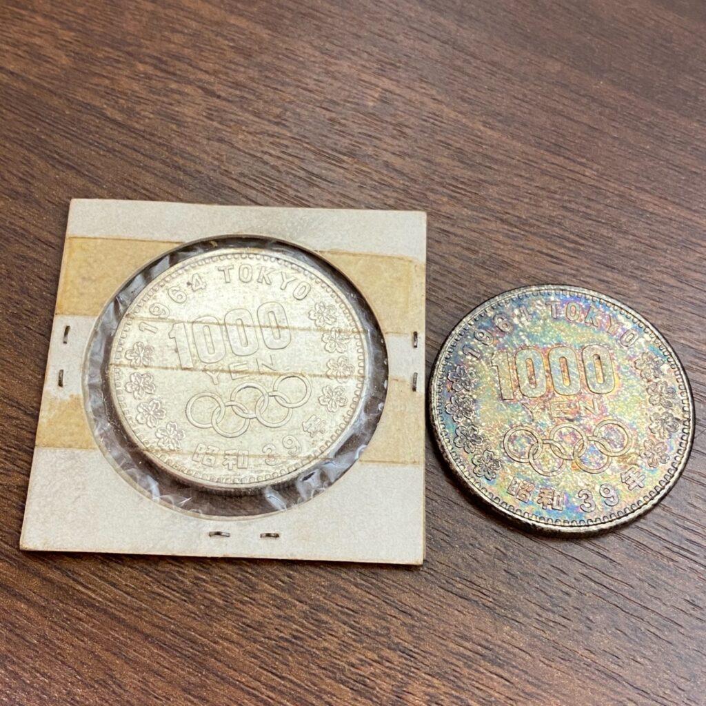 第一回東京オリンピック記念硬貨 1964年 昭和39年 千円硬貨 銀貨 コイン