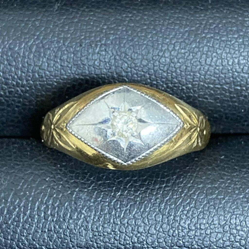 K18Pt900 コンビリング 18金プラチナ900 指輪