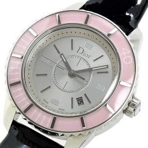 Christian Dior クリスチャンディオール 腕時計 クリスタル ピンク
