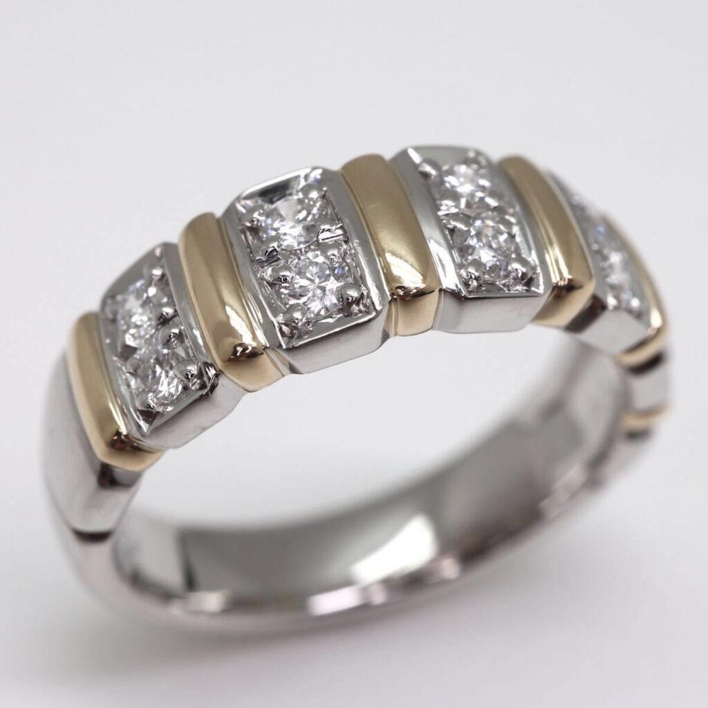 k18pt900 天然ダイヤモンドリング 0.31ct