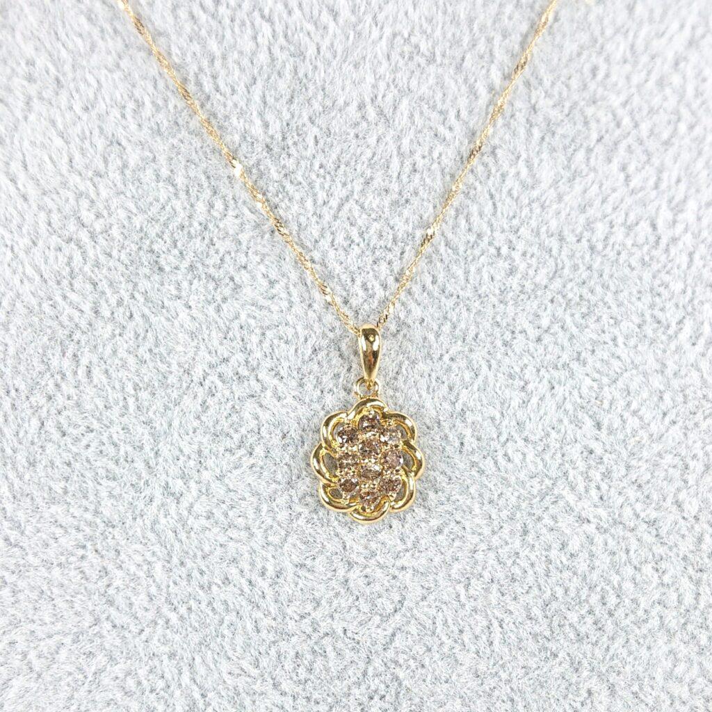 K18 ダイヤモンド(0.05ct)付きネックレス