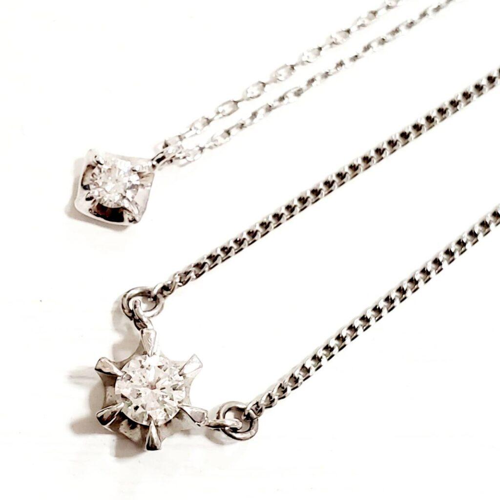 Pt950 ダイヤモンド ネックレス