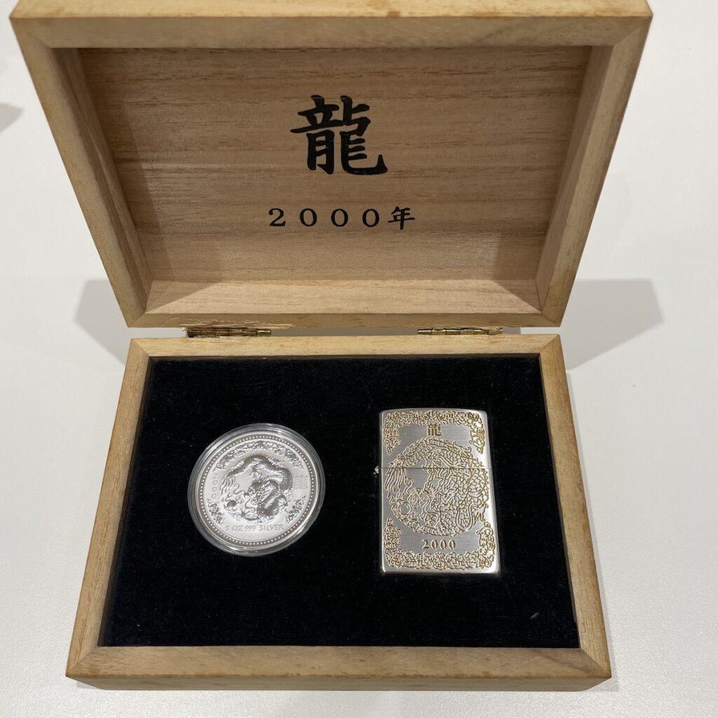 THE YEAR OF THE DRAGON 2000年 龍 ジッポ /  1ドル 1OZ 純銀コイン セット