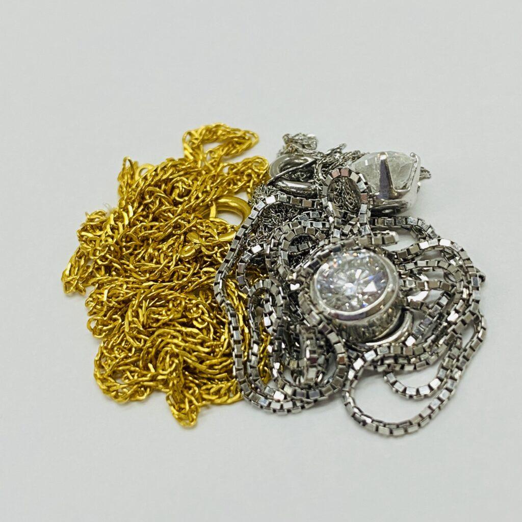 金 プラチナ ネックレス ダイヤモンド