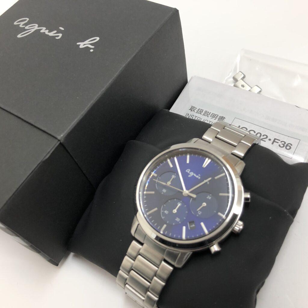 agnes b.(アニエスベー) メンズ クロノグラフ腕時計 FCRT968