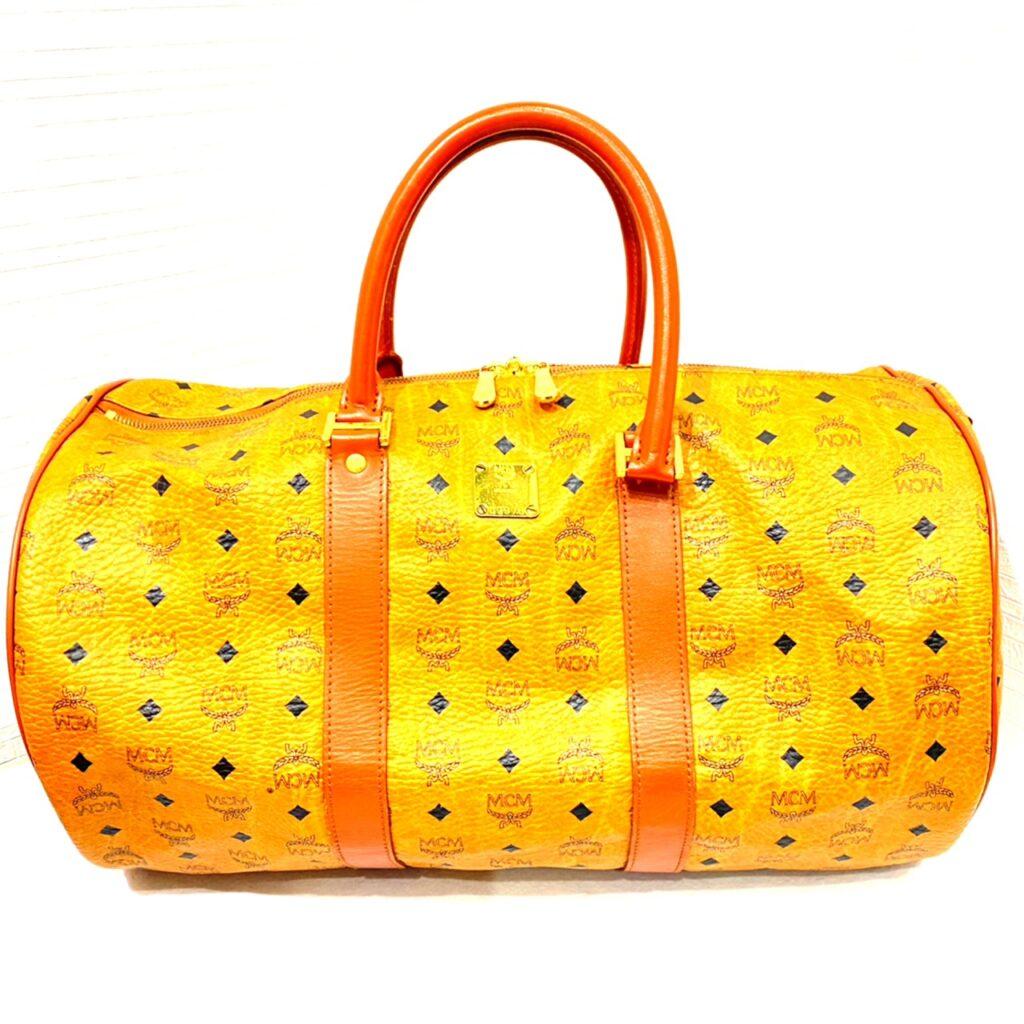 MCMバッグ ボストンバッグ オレンジ