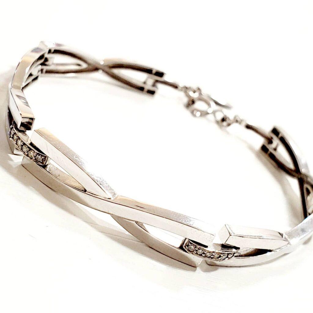 K18WG メレダイヤ ブレスレット