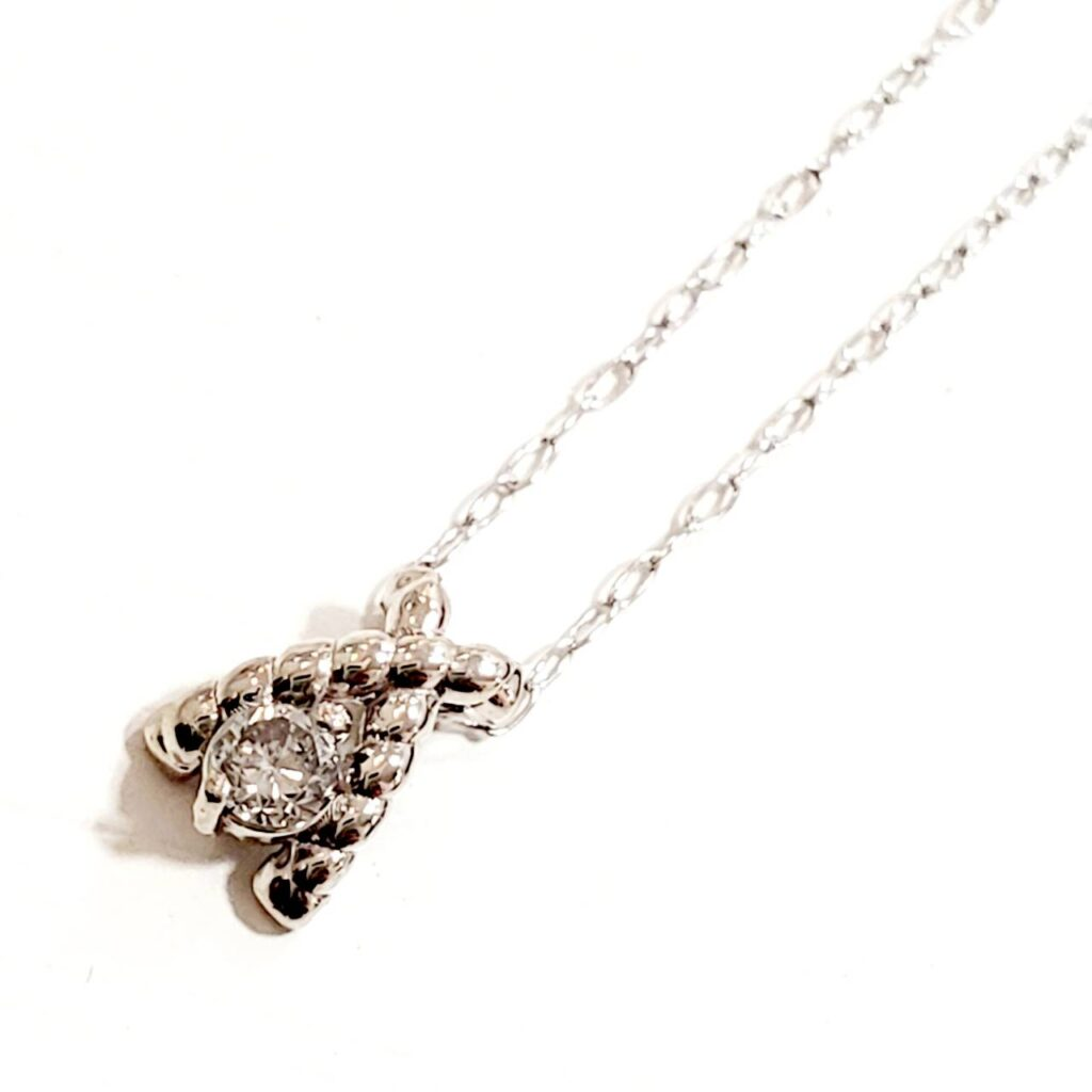 K18WG メレダイヤ ネックレス