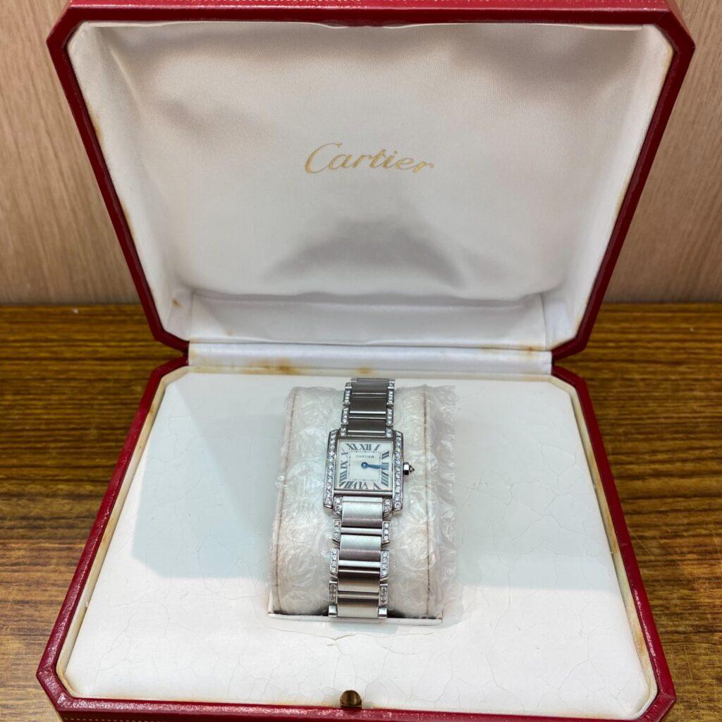 Cartier カルティエ 腕時計 タンク アフター ダイヤ ウォッチ レディース