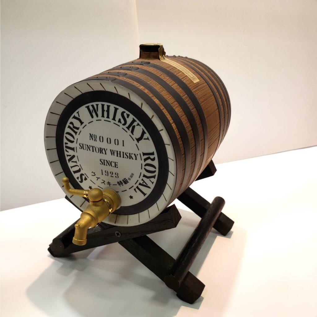 サントリー ローヤル 樽型 陶器ボトル 特級 ウイスキー モルト グレーン