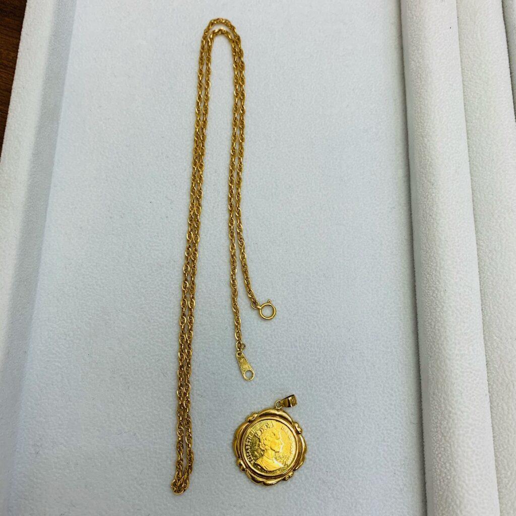K18 18金 ネックレス ペンダント 金貨 トップ アクセサリー 金 ゴールド
