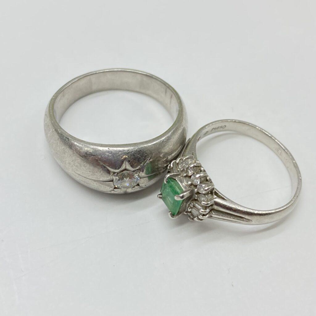 プラチナ リング ダイヤモンド エメラルド