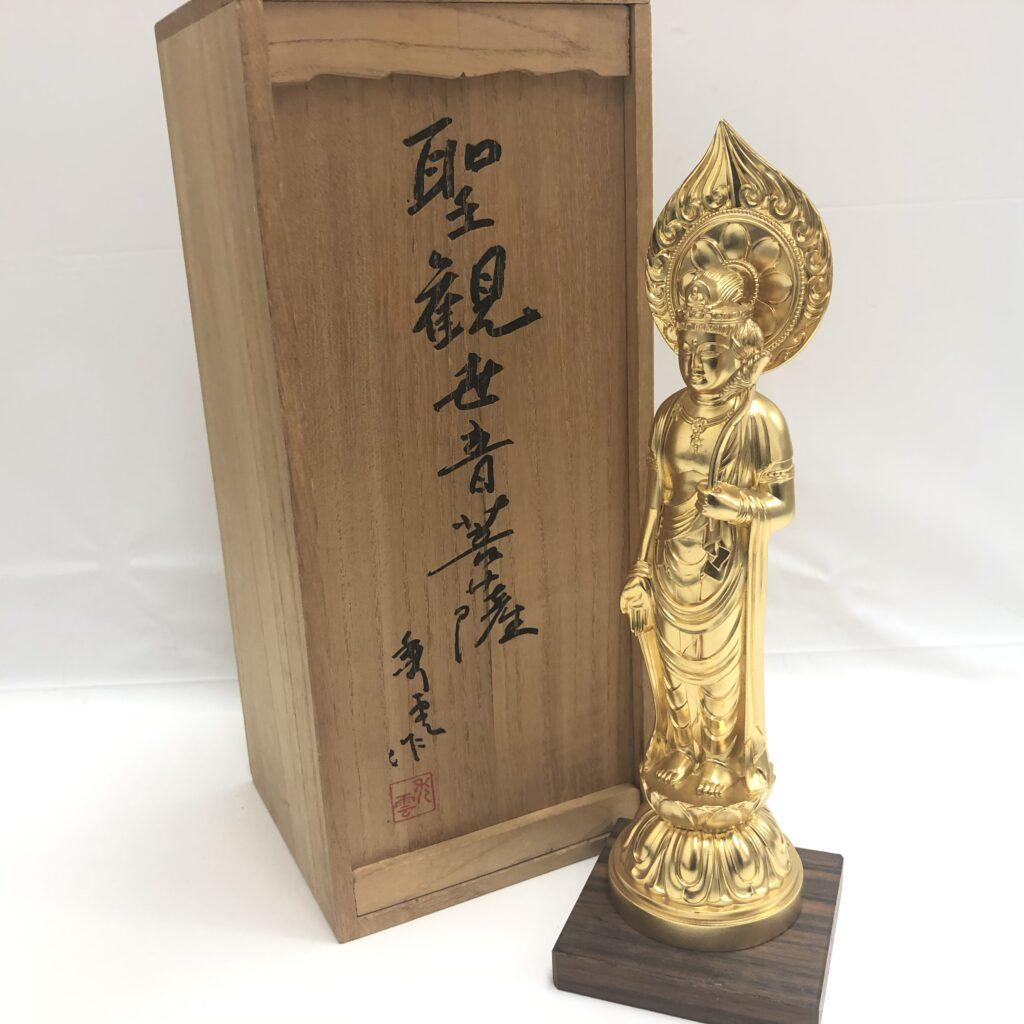 聖観世音菩薩 牧田秀雲作 天皇陛下御即位五十年記念 像