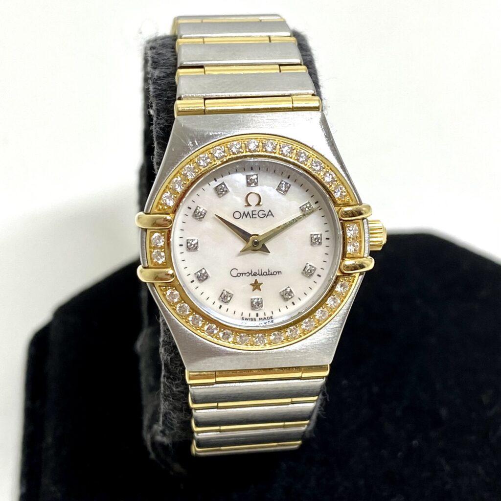 オメガ コンステレーション マイチョイス ミニ ダイヤベゼル 1465.71.00 クオーツ レディース 腕時計