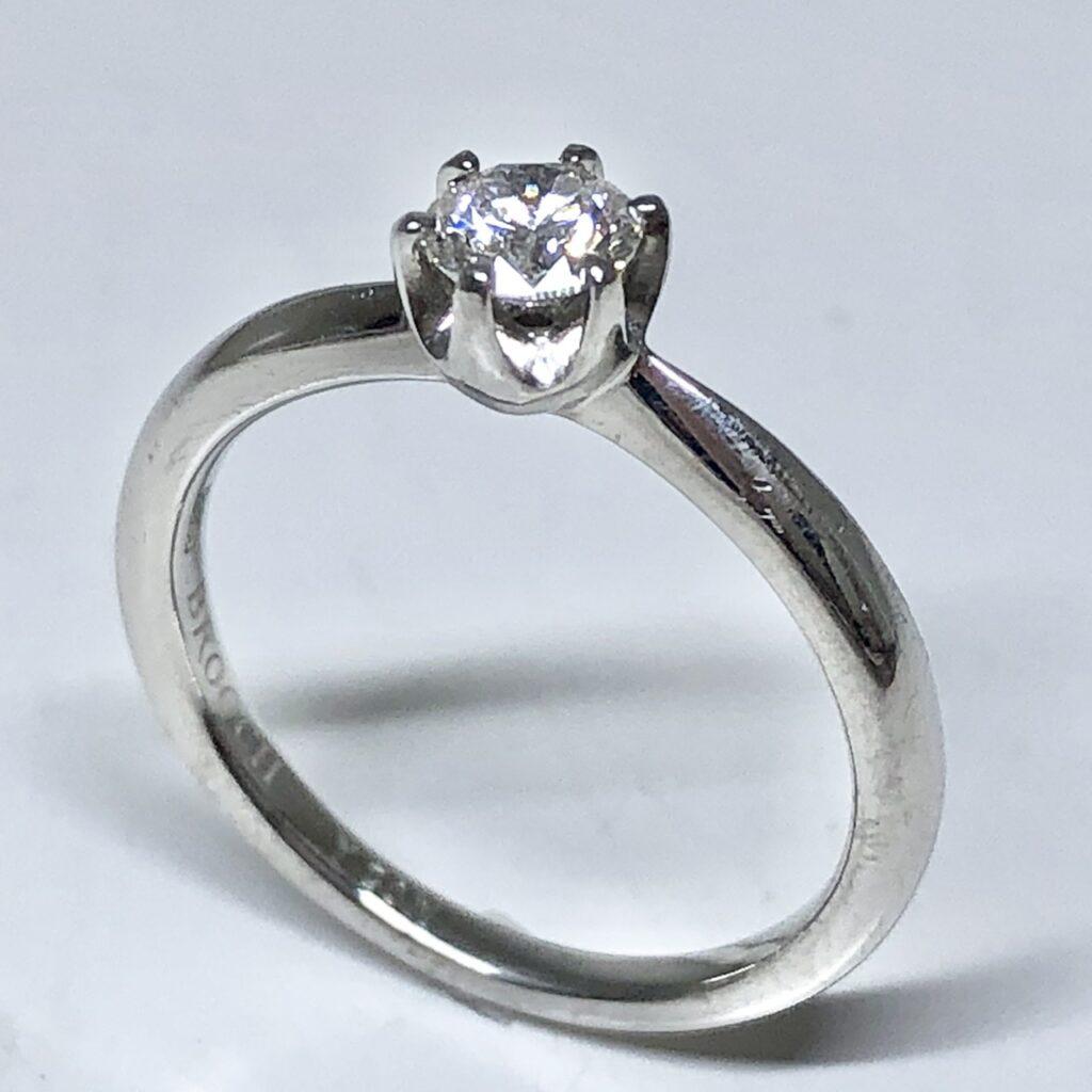 Pt900 0.25ctダイヤモンド付きリング