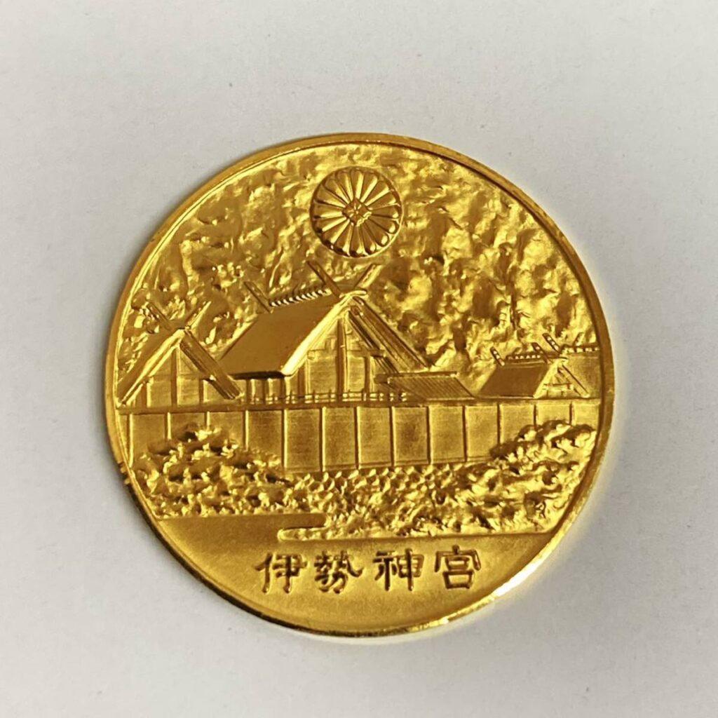 純金 メダル K24 伊勢神宮 第60回環宮記念 昭和48年