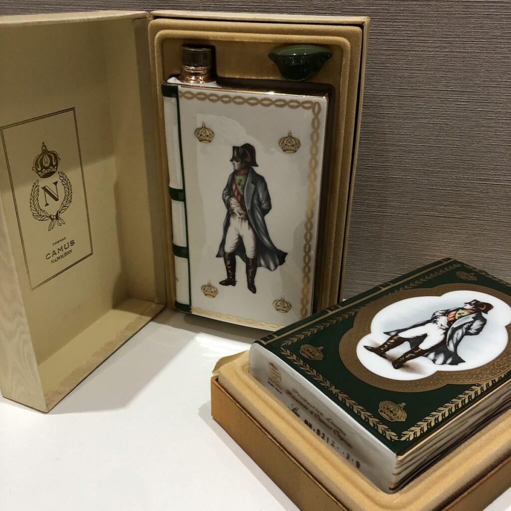 カミュ ナポレオン ブック 白/緑2本 箱付き