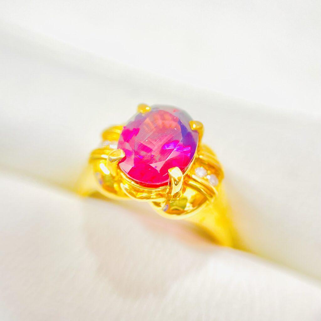 K18 リング ガーネット 色石 宝石