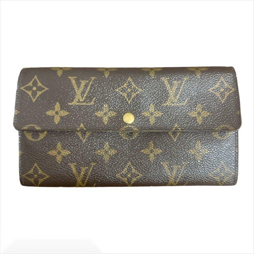 Louis Vuitton ポルトフォイユ サラ LV 財布 モノグラム ライン ジャンク