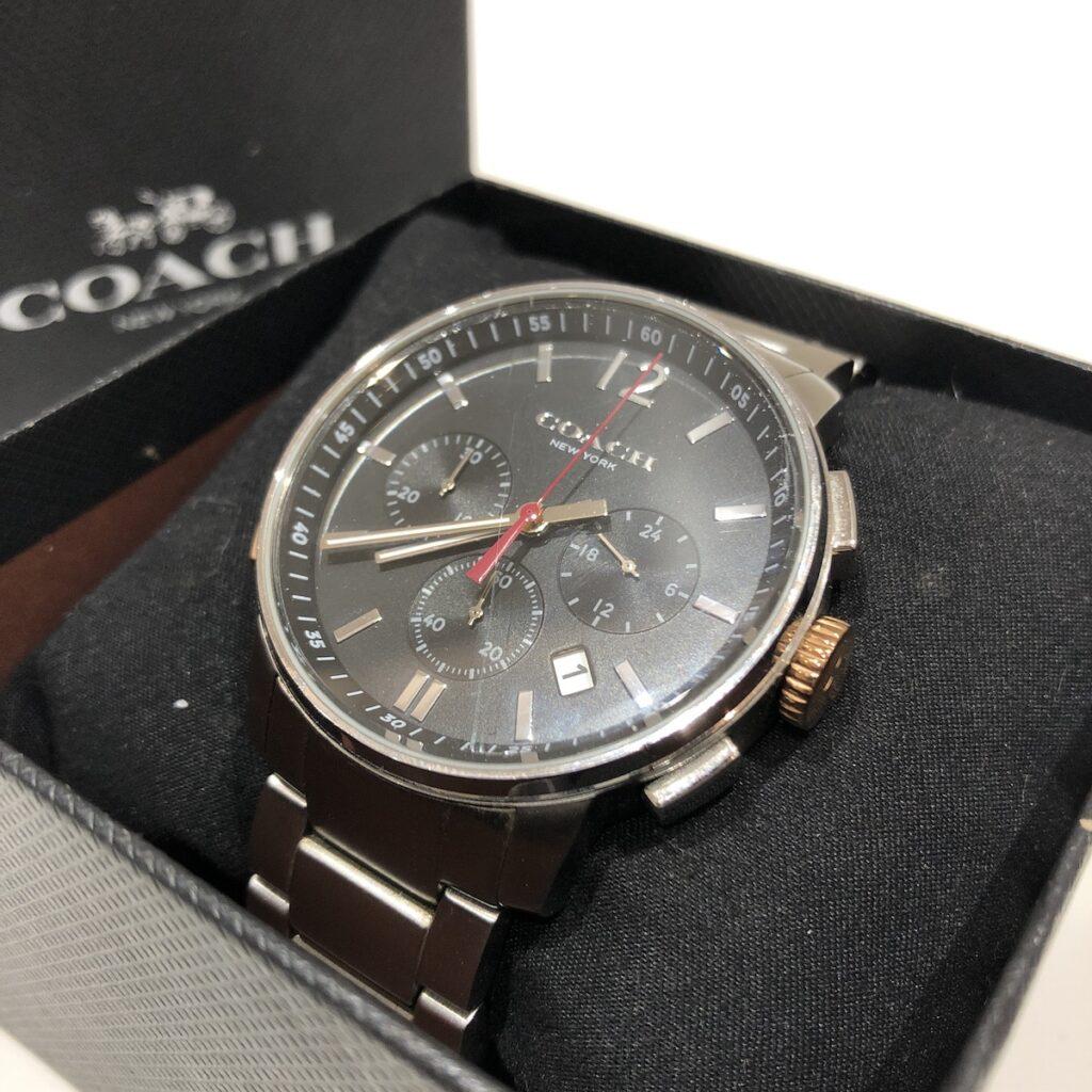 コーチ 腕時計 シルバー/ブラック