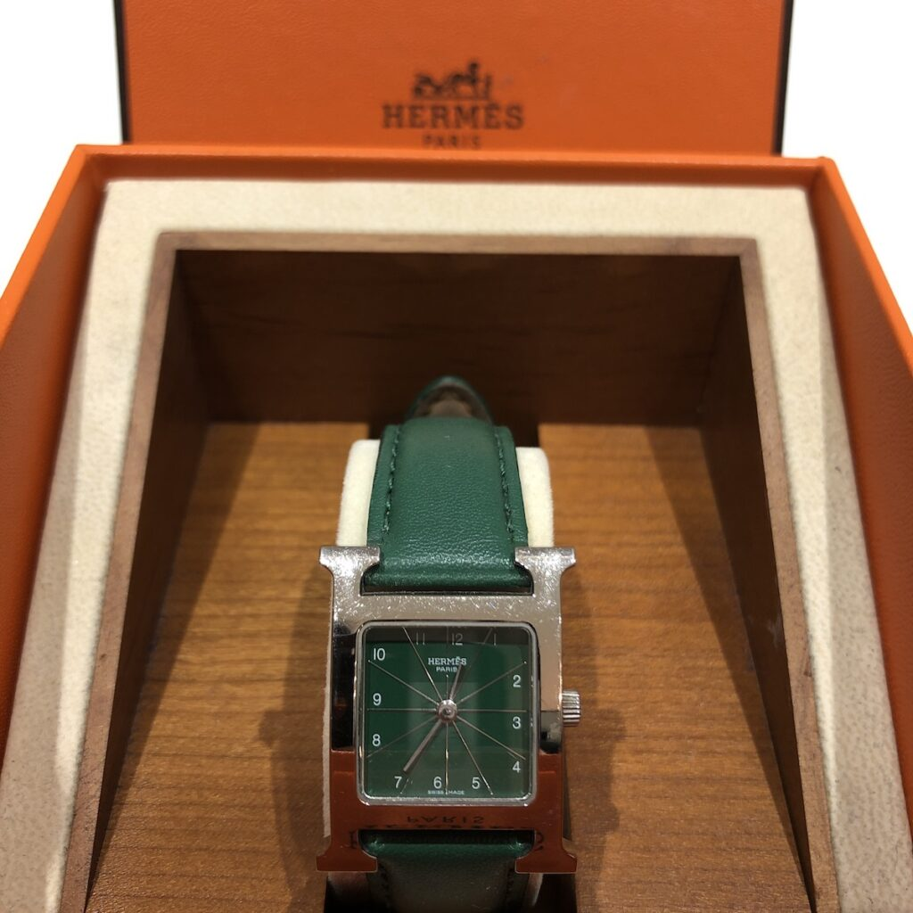 エルメス 腕時計 Hウォッチ ベルト社外 不動品