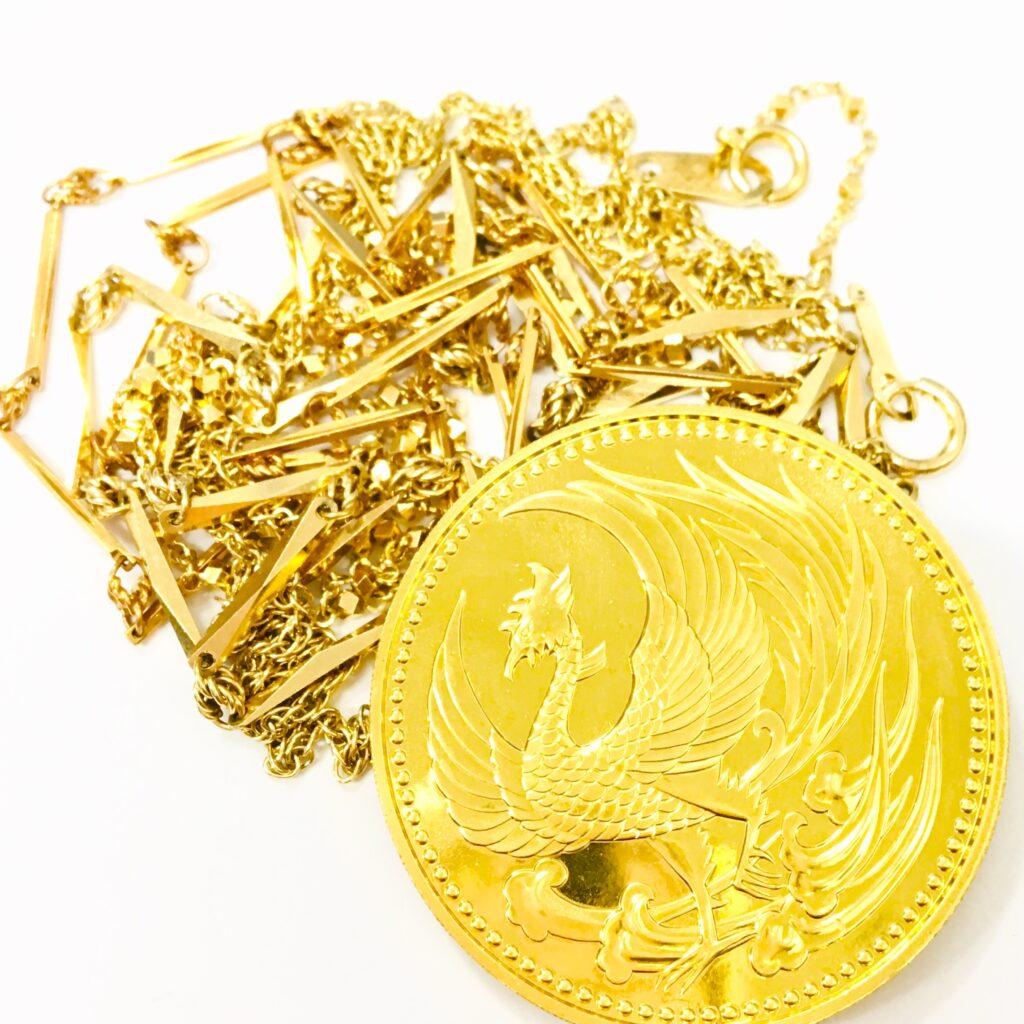 K24 K18 純金コイン ネックレス おまとめ