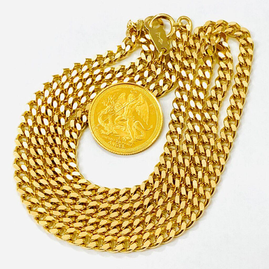 K18 K24 ネックレス  コイン 金アクセサリー