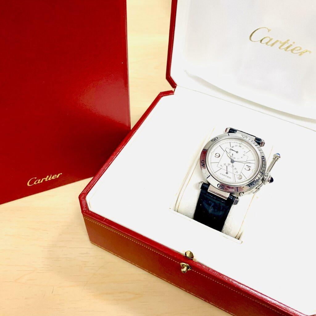 Cartier カルティエ パシャ38 GMT パワーリザーブ