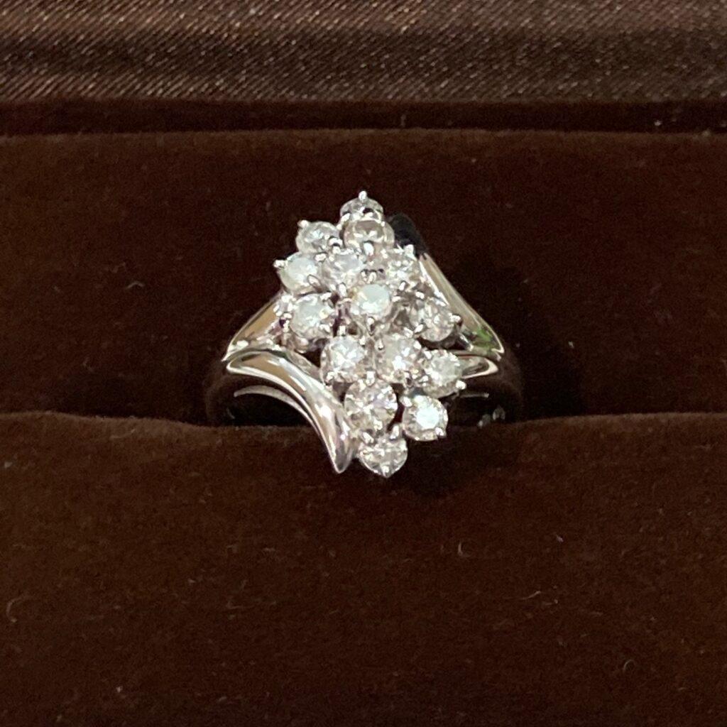 プラチナリング Pt850 ダイヤモンド