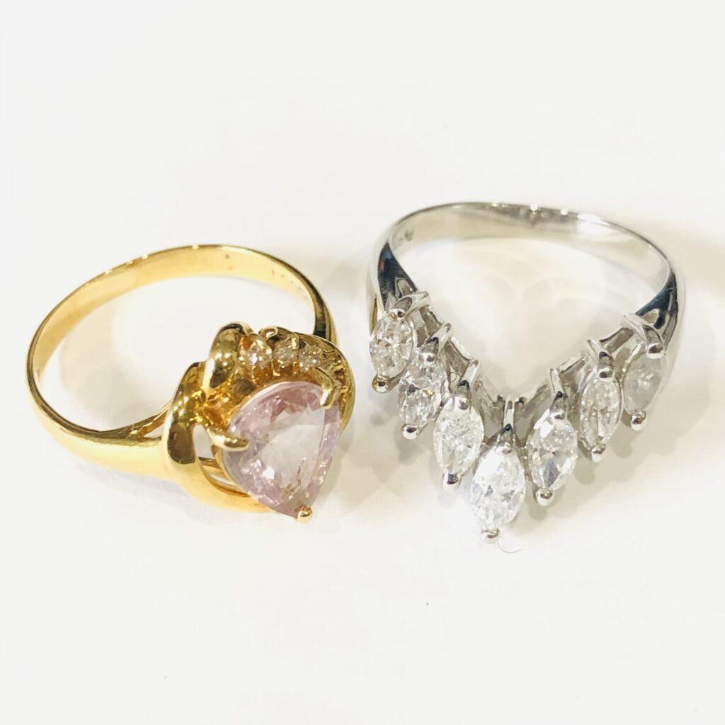 金 プラチナ リング ダイヤモンド