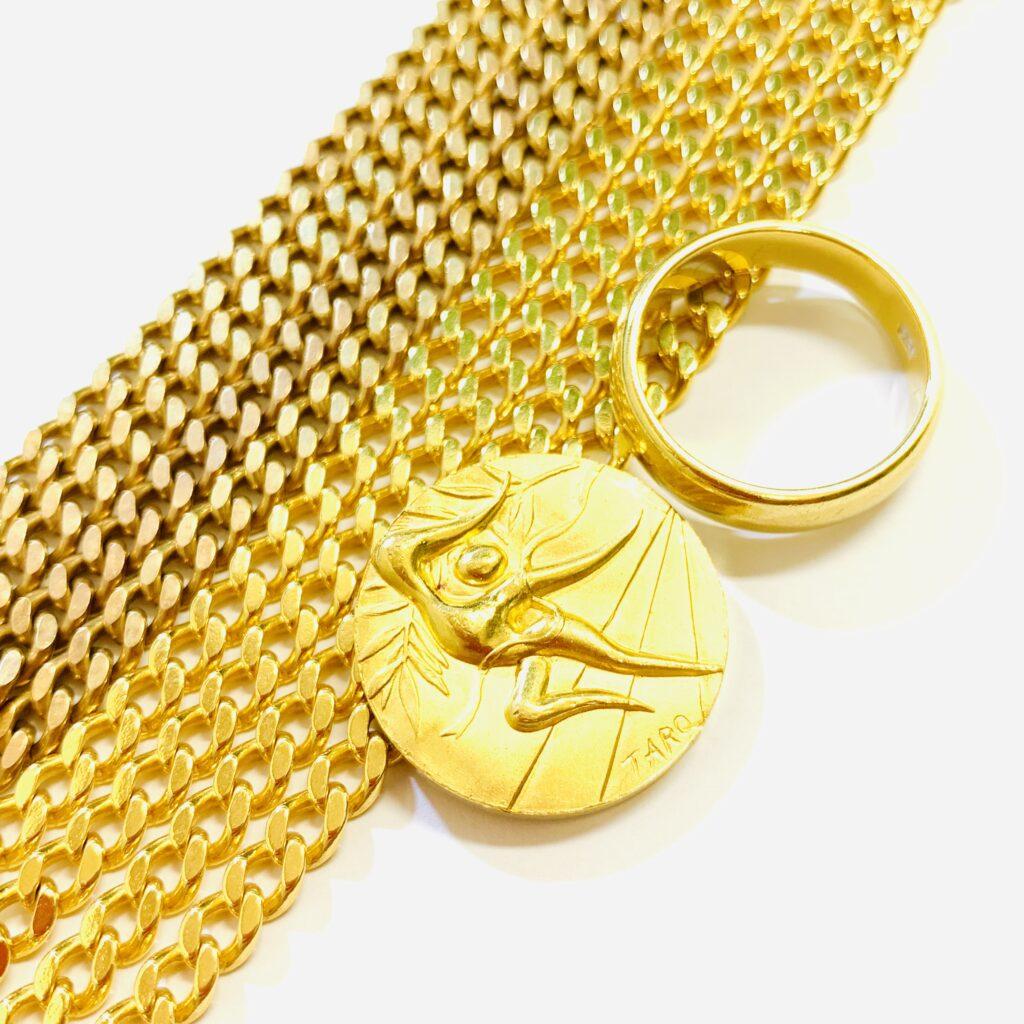K24 K18 純金コイン 喜平ネックレス リング 金アクセサリーおまとめ