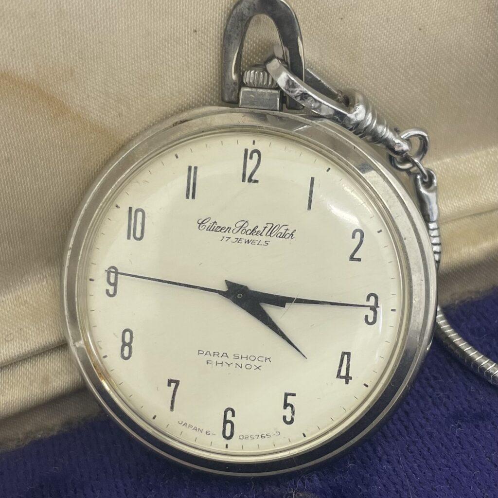 CITIZEN シチズン Pocket Watch 17JEWELS 手巻き 機械式 PARA SHOCK