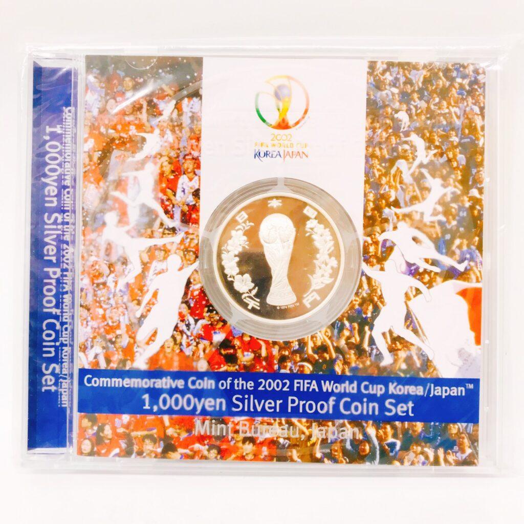 2002FIFAワールドカップ 記念貨幣 1000円銀貨幣 プルーフ貨幣セット