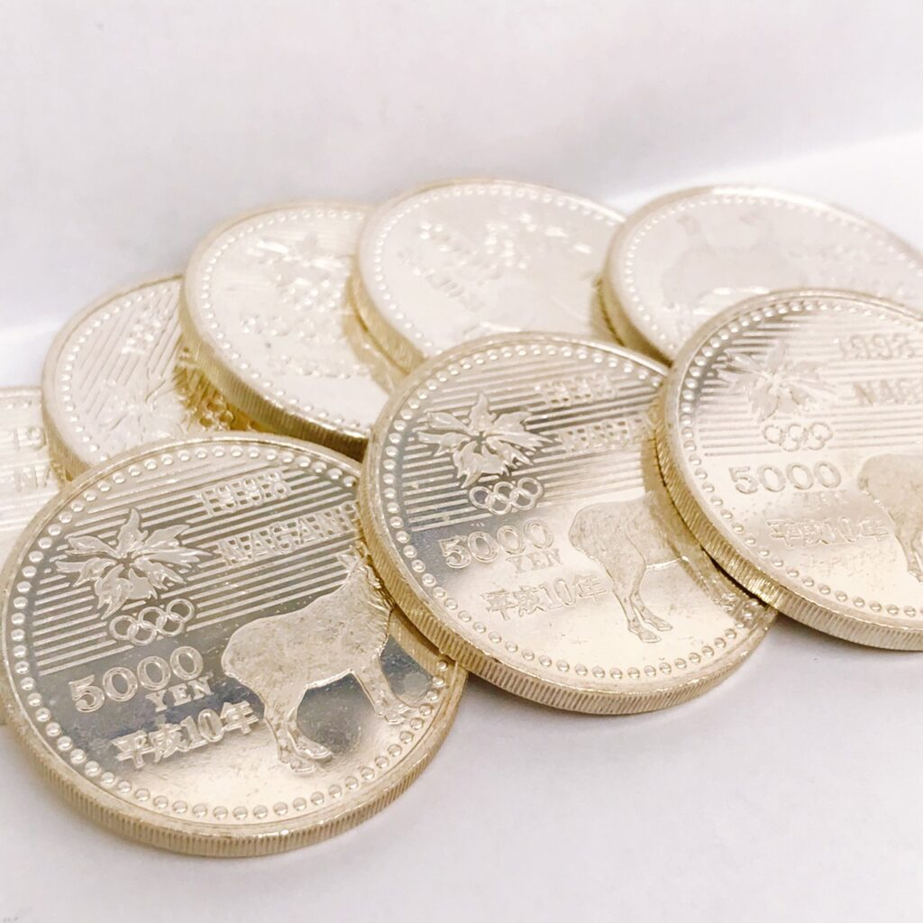 長野オリンピック冬季競技大会記念 5000円記念硬貨